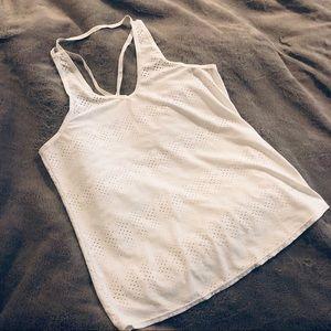 Athleta White Strappy Singlet Tank